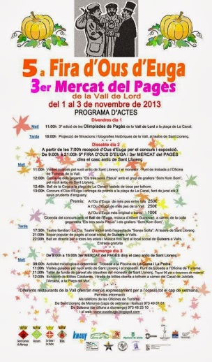 5a Fira d'Ous d'Euga i el 3r Mercat del Pagès de la Vall de Lord - Sant Llorenç de Morunys 2013
