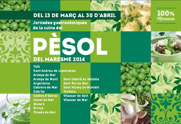 Jornades Gastronòmiques del Pèsol del Maresme 2014