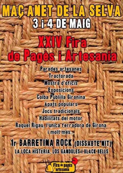 XXIVa Fira del Pagès i Fira d'Artesania Maçanet de la Selva 2014