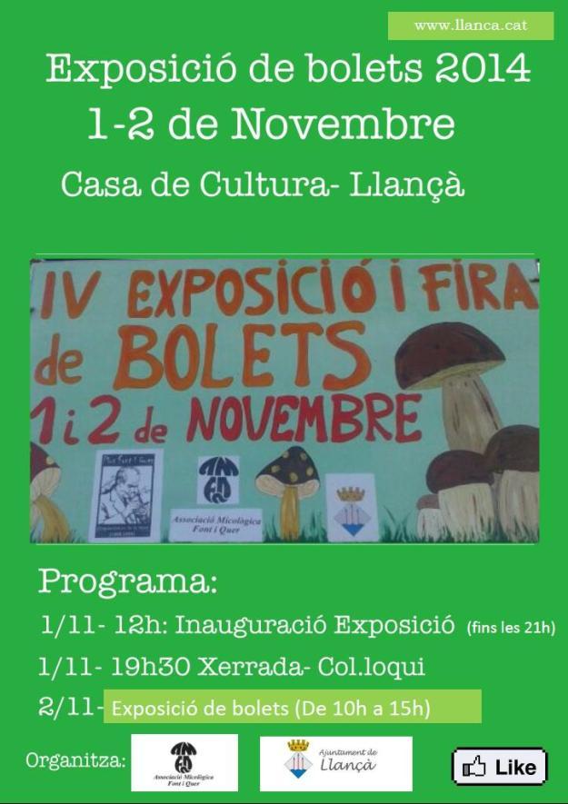 IVa Fira Concurs i Exposició de Bolets Llançà 2014-02
