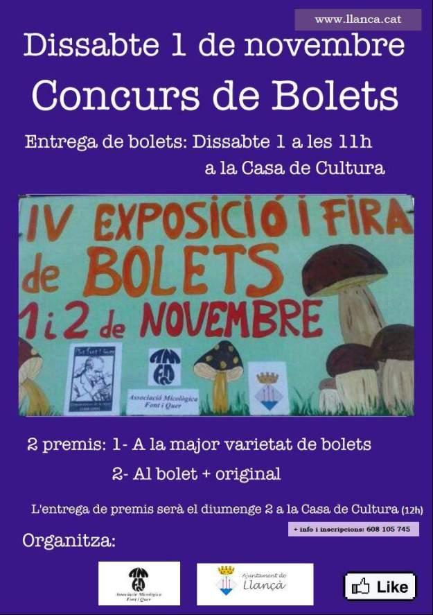 IVa Fira Concurs i Exposició de Bolets Llançà 2014