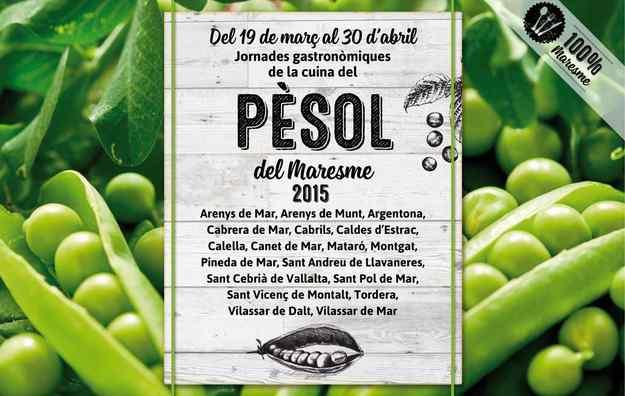 Jornades Gastronòmiques del Pèsol del Maresme del 2015