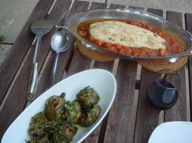 Llenguado al Forn amb Salsa de Tomàquet i Alfàbrega 03