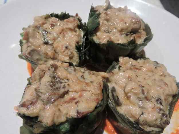 Carxofes farcides amb bolets i gorgonzola 05