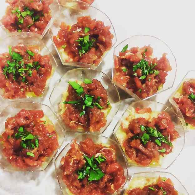 Tàrtar de tonyina amb guacamole