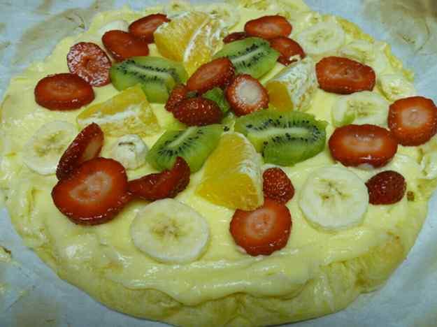 Pasta de full amb fruites