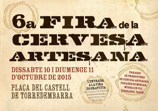 6a Fira de la Cervesa Artesana Torredembarra 2015