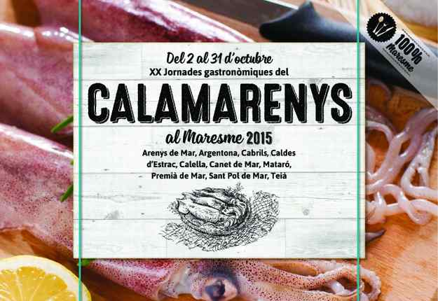 XX Jornades gastronòmiques del Calamarenys al Maresme 2015