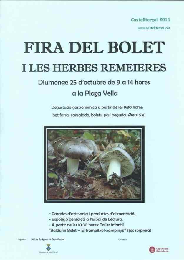 Fira del Bolet i de les Herbes Remeieres 2015 – Castellterçol
