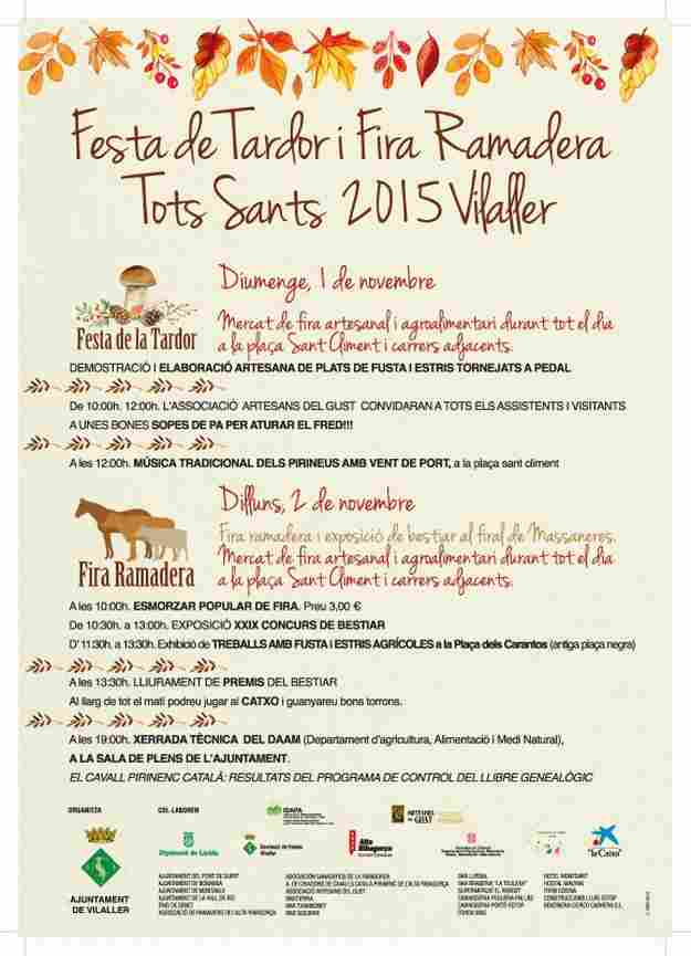 Fira Ramadera de Tots Sants i 11a Festa del Cep – Vilaller 2015