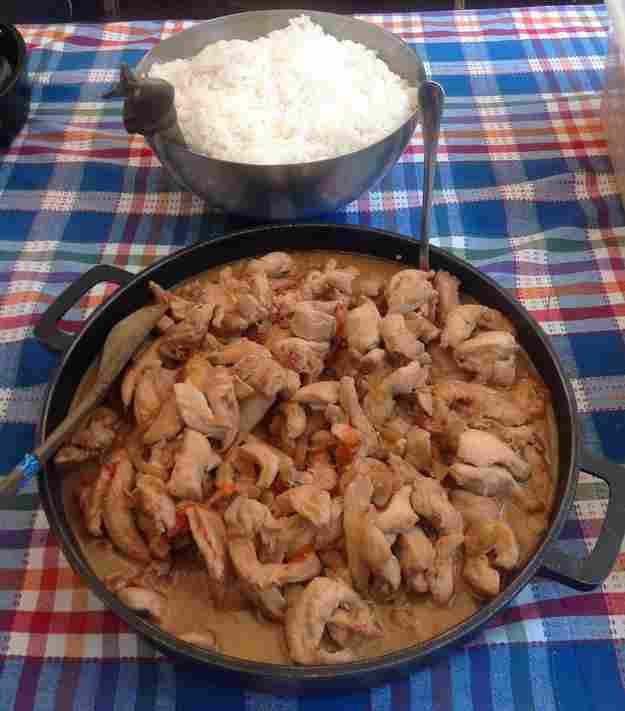Pollastre amb salsa teriyaki de la Carme
