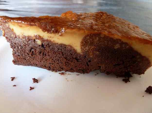 Pastís de Brownie i Flam 01