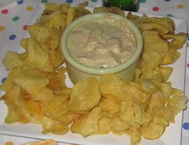 Patates xips amb dip