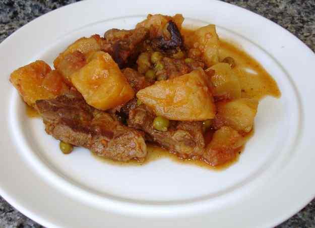 Estofat de vedella amb patates (segona recepta)