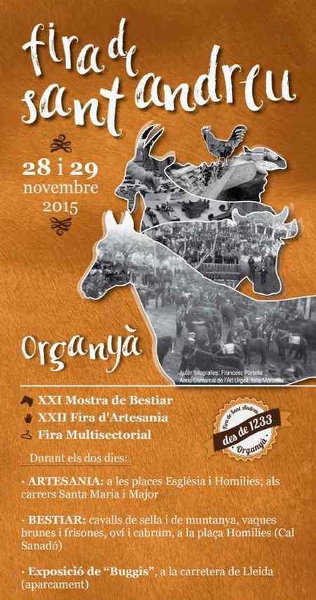 Fira de Sant Andreu – Organyà 2015