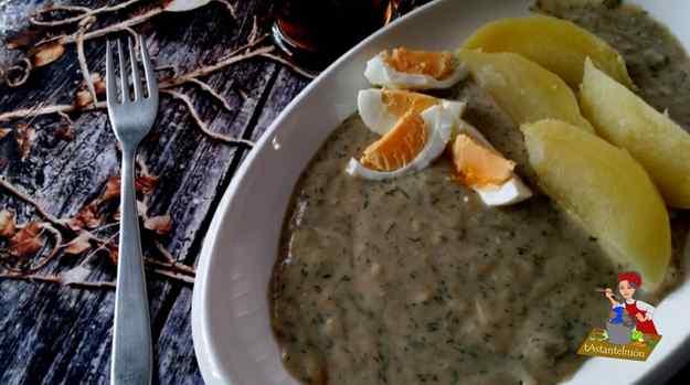 Salsa d'anet amb creïlles i ou bullit – Koprová omáčka