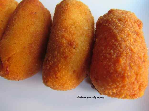 Croquetes de formatge Idiazàbal