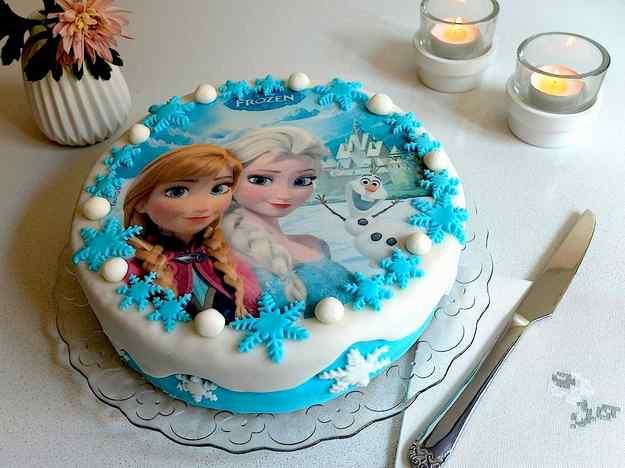 Pastís d'aniversari de la Frozen