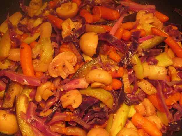 Verdures fregides al wok (poêlée de légumes au wok)