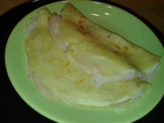Creps de pernil dolç i formatge