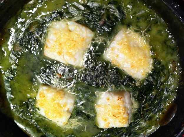 Bacallà a la crema de mel i espinacs (21/130)