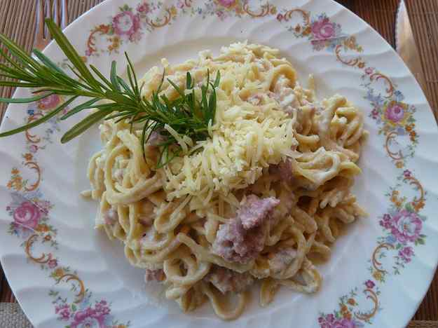 Espaguetis amb Ricotta