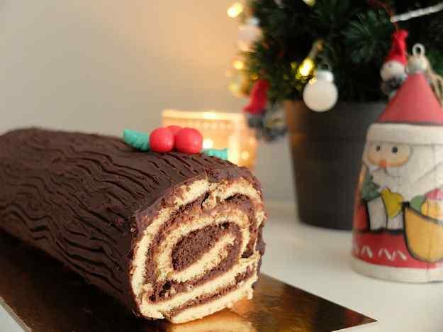 Tronc de Nadal de xocolata