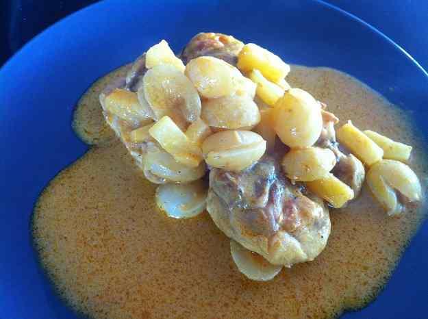 Pollastre al curry amb raïm i pinya (48/60)