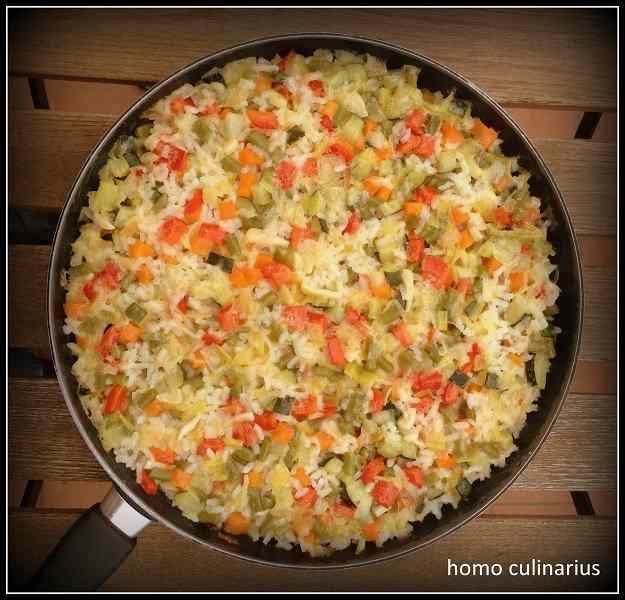 Un arròs amb verdures