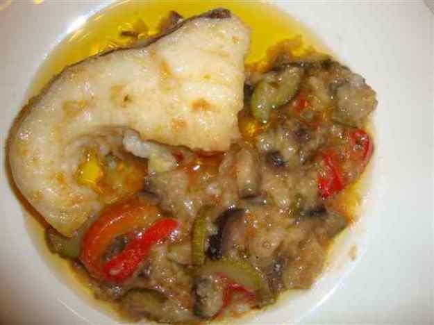 Bacallà amb verdures