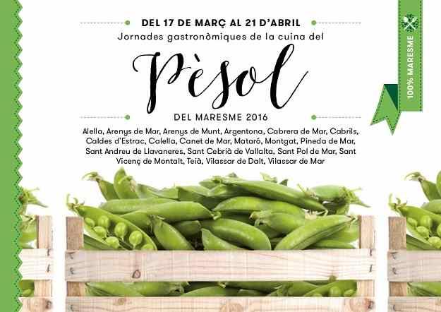 Jornades gastronòmiques de la cuina del pèsol al Maresme 2016