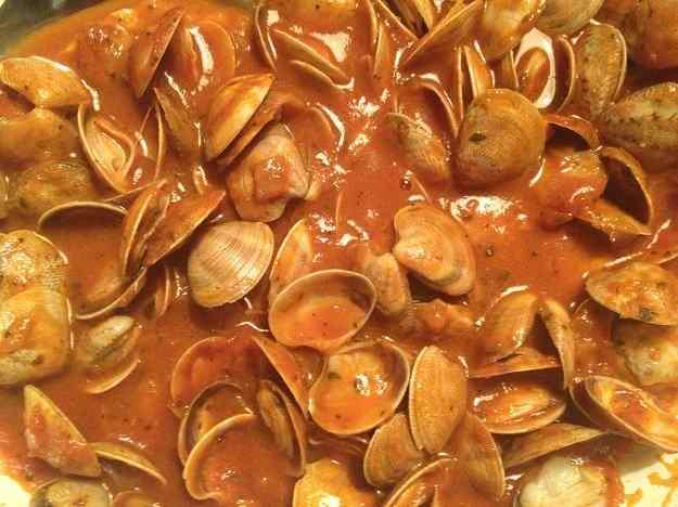 Cloïsses en salsa picant