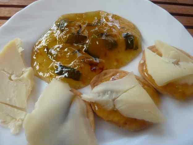 Blinis de melmelada de carbassó i formatge
