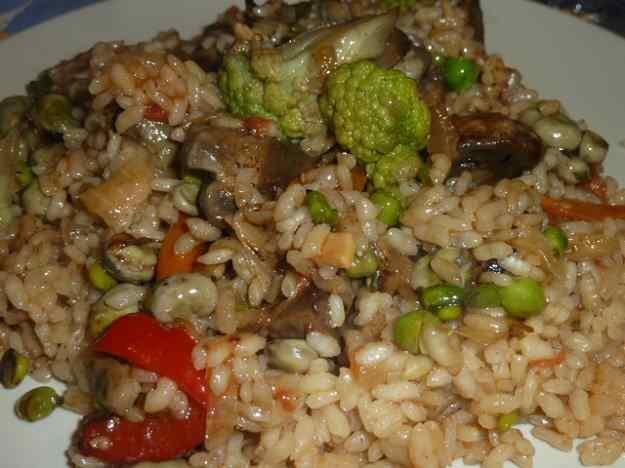 Paella d'arròs amb verdures 01