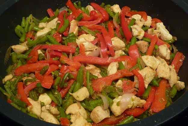 Verdures amb pollastre
