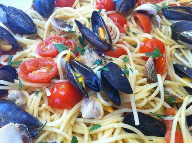 Espaguetis amb músclos