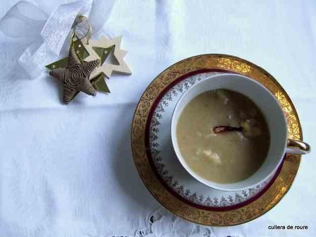 Crema de llagosta. Dinar de Nadal