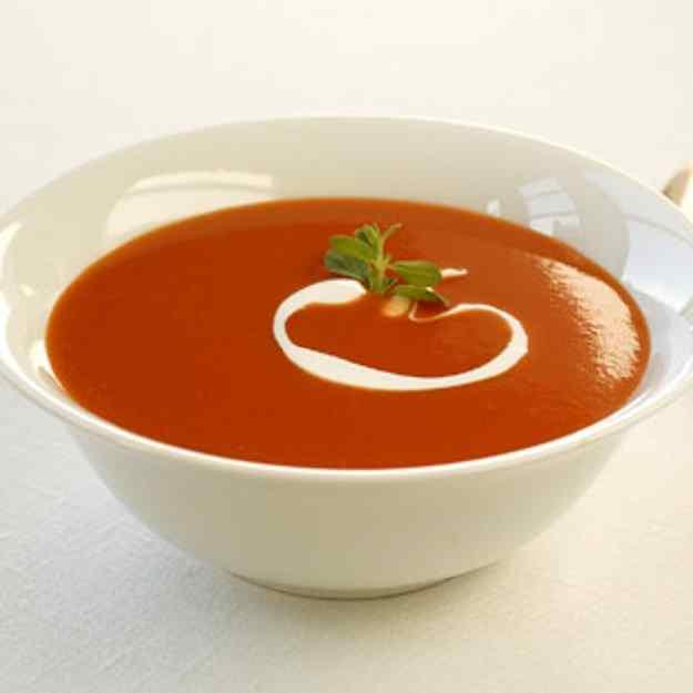 Sopa cremosa tomàquet