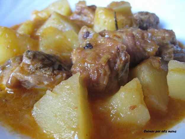 Costella de porc amb patates