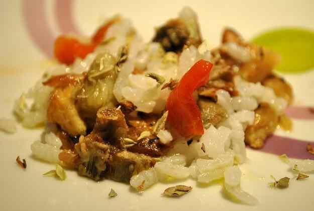 Amanida d'arròs i verdures