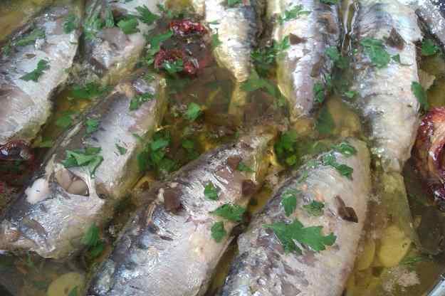 Sardines amb escabetx de llimona