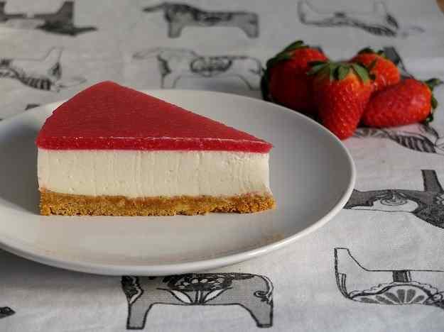 Pastís de formatge i maduixa (Strawberry Cheese cake)