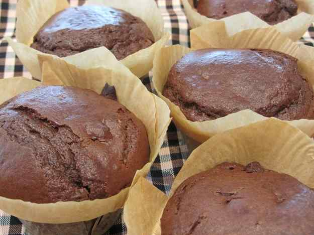 Muffins de xocolata amb nocilla
