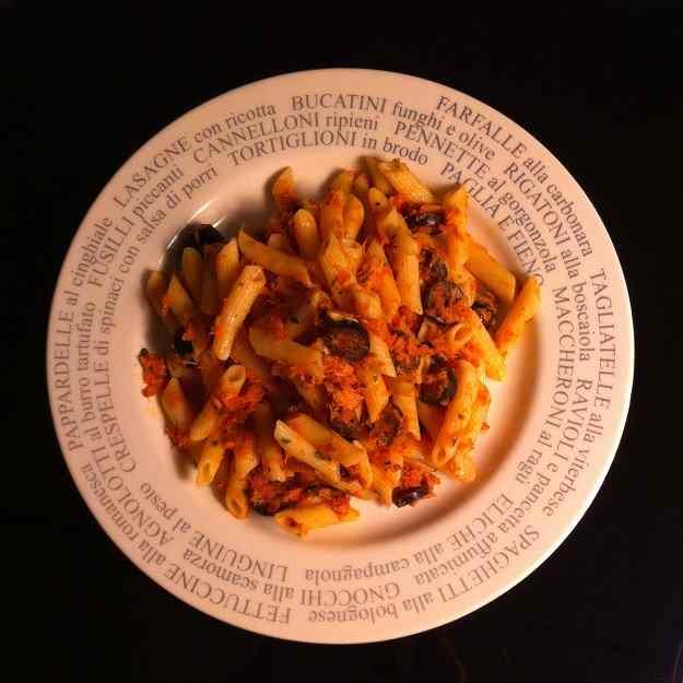Macarrons amb tonyina (Il Porticato style)